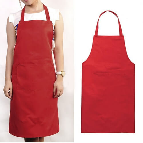 100% organic cotton black, white, red and yellow bib aprons wholesale manufacturers