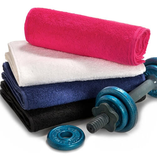 Fitness, sweat & gym hand towels wholesale